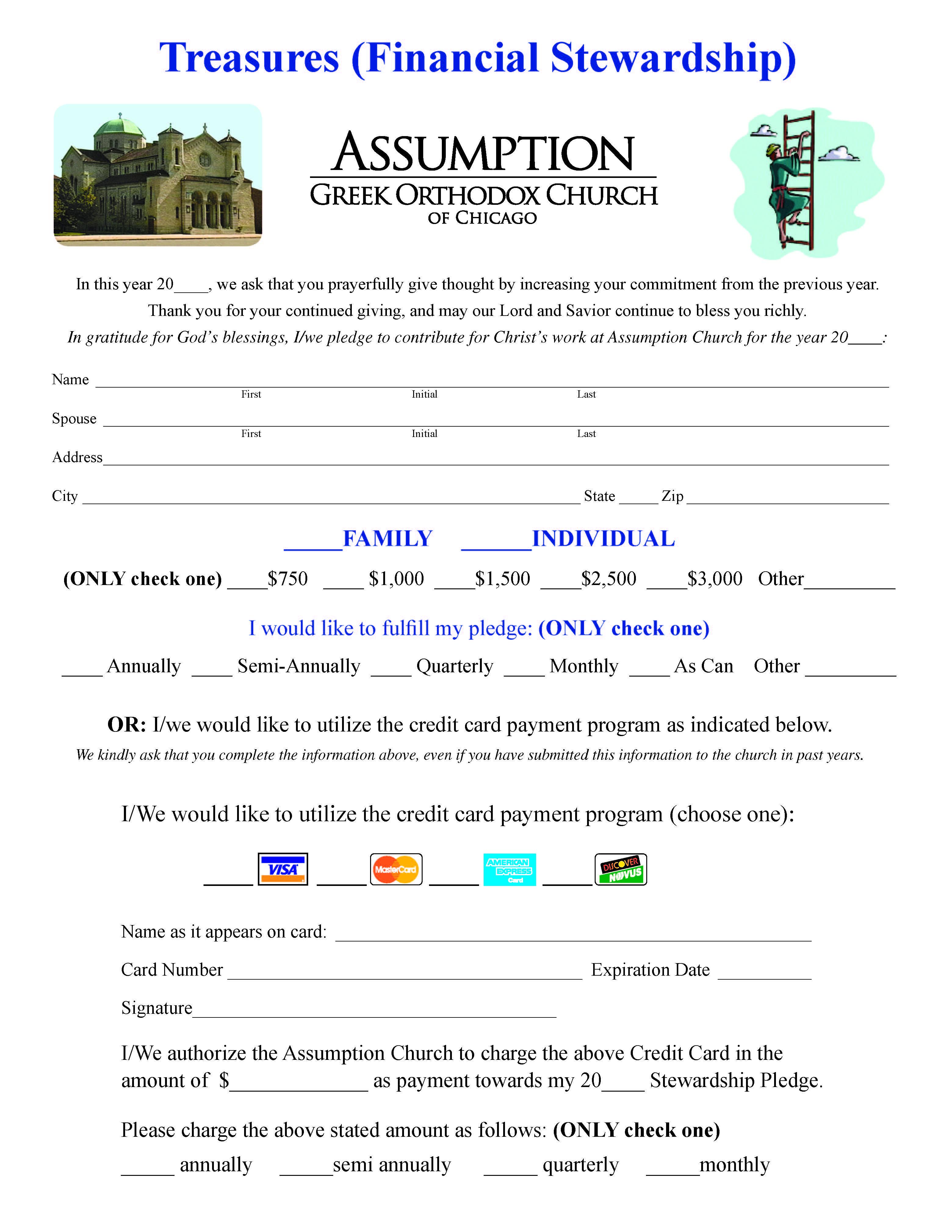 Stewardship Assumption Greek Orthodox Church